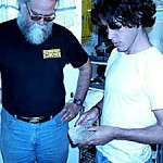 Howell Thomas w/ Laureano Clavero (Visiting Paleontologist, Argentina)